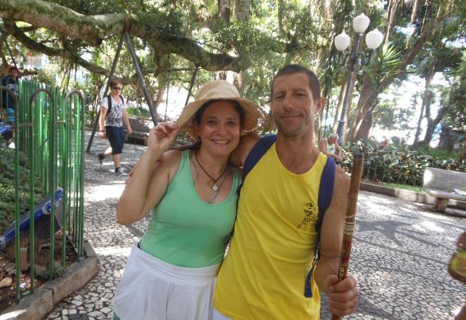Com Mestre Pinóquio na Figueira.